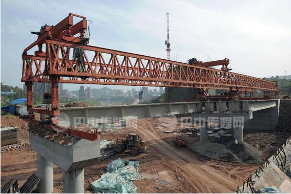 北环线上三座桥梁已进入后期施工阶段