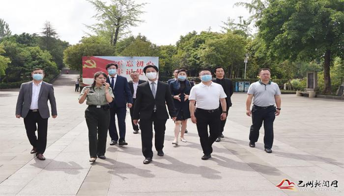 香港铜锣湾集团来巴州区考察 杨波陪同