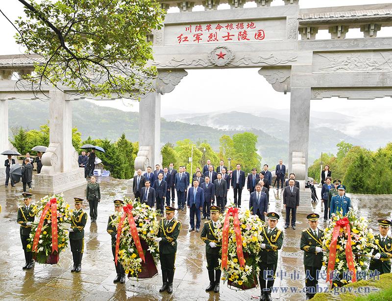 何平率队到通江县开展党史学习教育主题活动督导调研相关工作