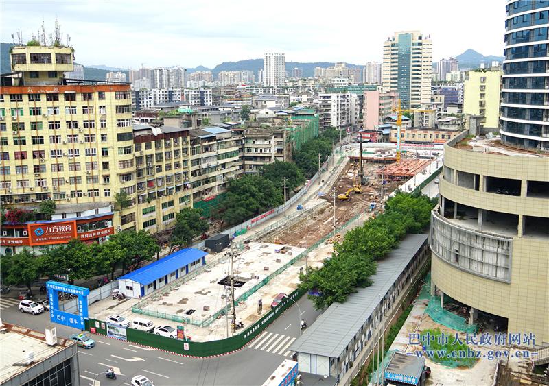 巴城南池广场建设有序推进