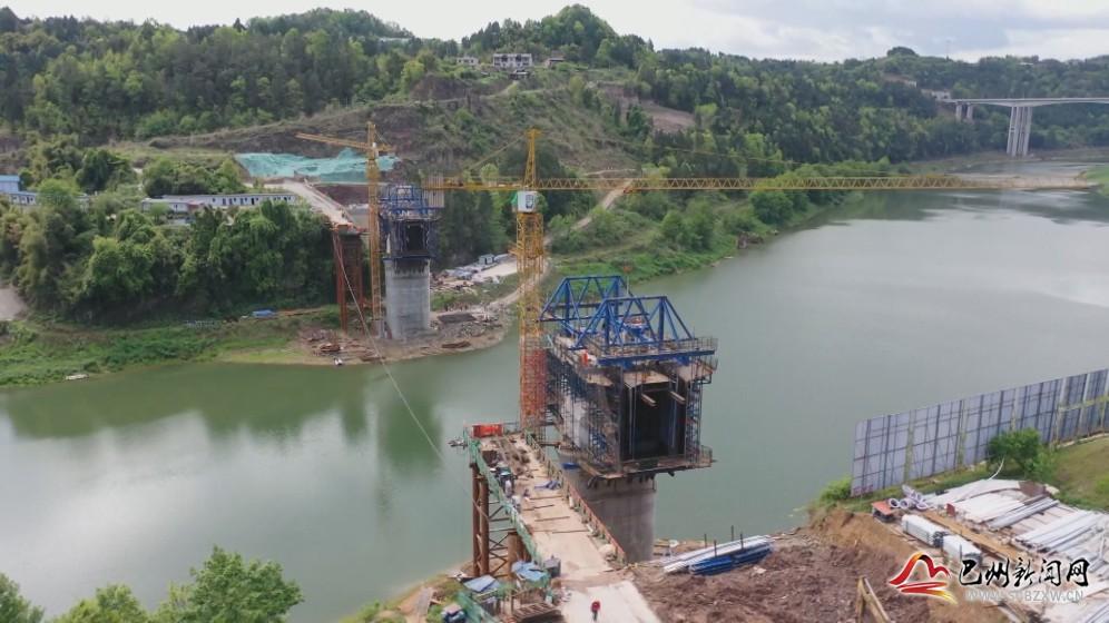 速看!汉巴南铁路尹家大桥建设进度来啦